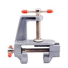 цена на Mini Bench Vise Table Screw Vise Aluminium Alloy 30mm Table Bench Clamp Vise for DIY Craft Mold Fixed Repair Tool