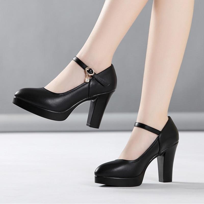 Drill Black White Dress Shoes Women