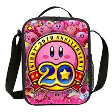 Mini saco de almoço crianças meninos meninas moda bonito dos desenhos animados anime kirby 3d impressão saco de gelo isolado térmico piquenique lancheira sac um principal