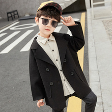 Clothing Coats Kids Children's Fashion Solid for Boy 3-13-Years-Old 2-Colors Turn-Down-Collar