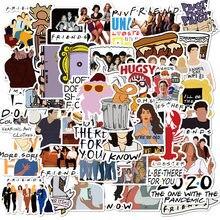 Letras de serie de TV Friends, regalo Vintage de Anime, calcomanía divertida, álbum de recortes, pegatinas para teléfono y portátil, regalos, 10/50 Uds.
