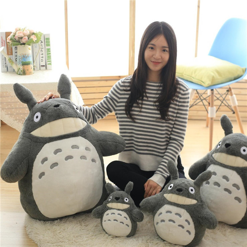 27-75cm Cute Wedding Press Doll Children Birthday Girl Kids Toys Totoro Doll Large Size Pillow Totoro Plush Toy Doll