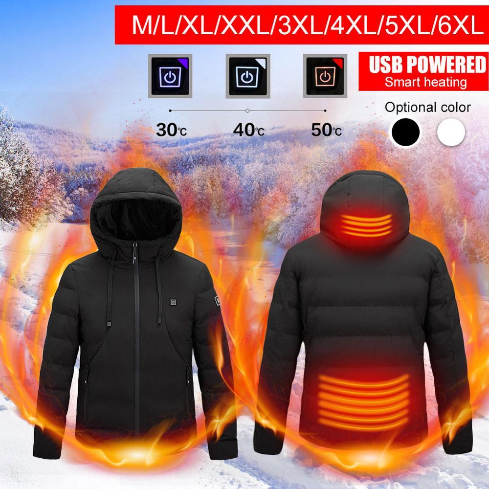 9 зона открытый электрический с подогревом куртки жилет пальто USB длинные рукава электрический обогрев с капюшоном куртки тепло зима тепло одежда