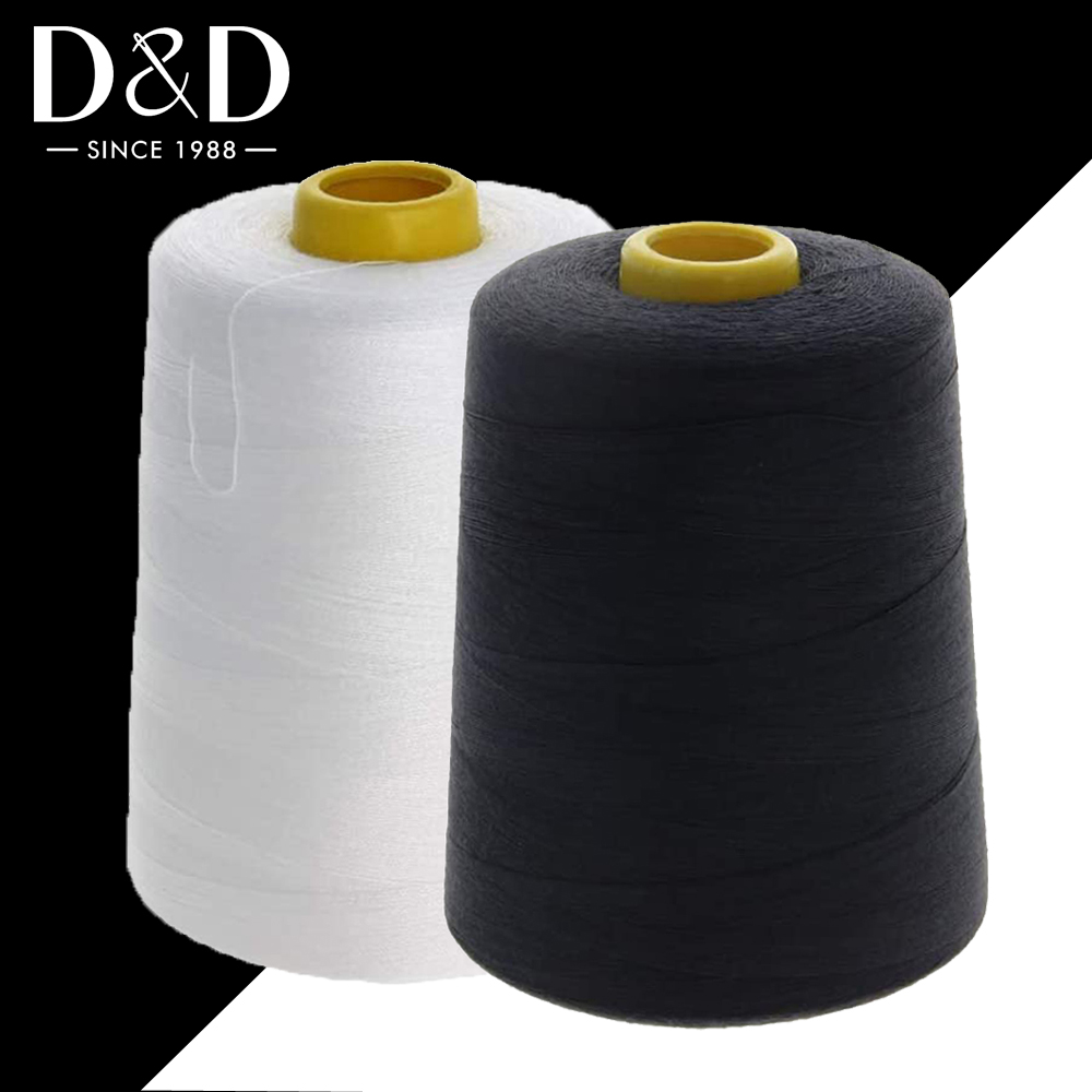8000 Yards Sewing Thread Overlock Spools 40s/2 Polyester Thread for Sewing Machine Line Clothes Sewing Supplies White Black|Sewing Tools & Accessory| - AliExpress