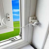 Window Security Chain Lock Sliding Security Limiter Lock Stop Door Restrictor Child Safety Anti-Theft Locks Home Hardware