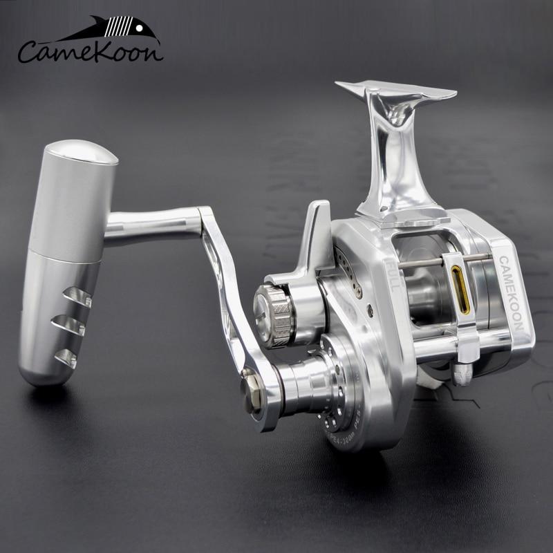 CAMEKOON Underhead Jigging Fishing Reel 35kgs Drag Power Left/right Handle Saltwater Lever Drag Reel Trolling Big Game Reel