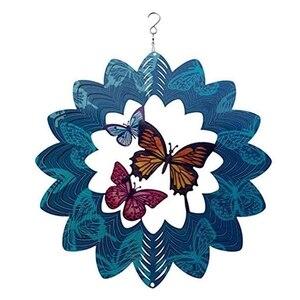 12 дюймовое металлическое ветра счетчик на открытом воздухе украшения сада, Ловец бабочек ветряные мельницы для патио и газон украшения искусства