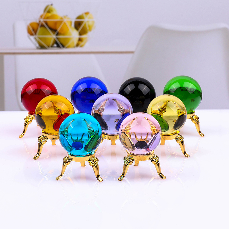 Mini Cute Crystal Ball Asian Rare Natural Magic Ball Healing Sphere Quartz Balls Crystal Craft Decor