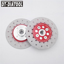 цена на DT-DIATOOL 2pcs 100mm/4 M14 Thread Double Side Coated Diamond Cutting Disc Grinding Wheel Cut Shape Grind Stone Marble Granite