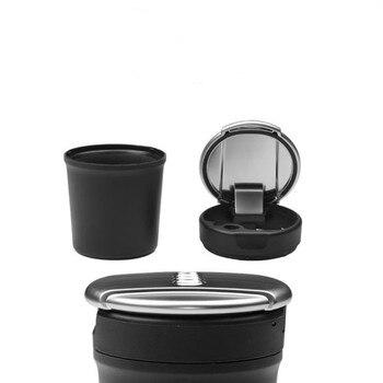 Original car ashtray storage box chrome trash can for Audi A3 A4L A5 A7 Q3 Q5L A6L A8L car ashtray