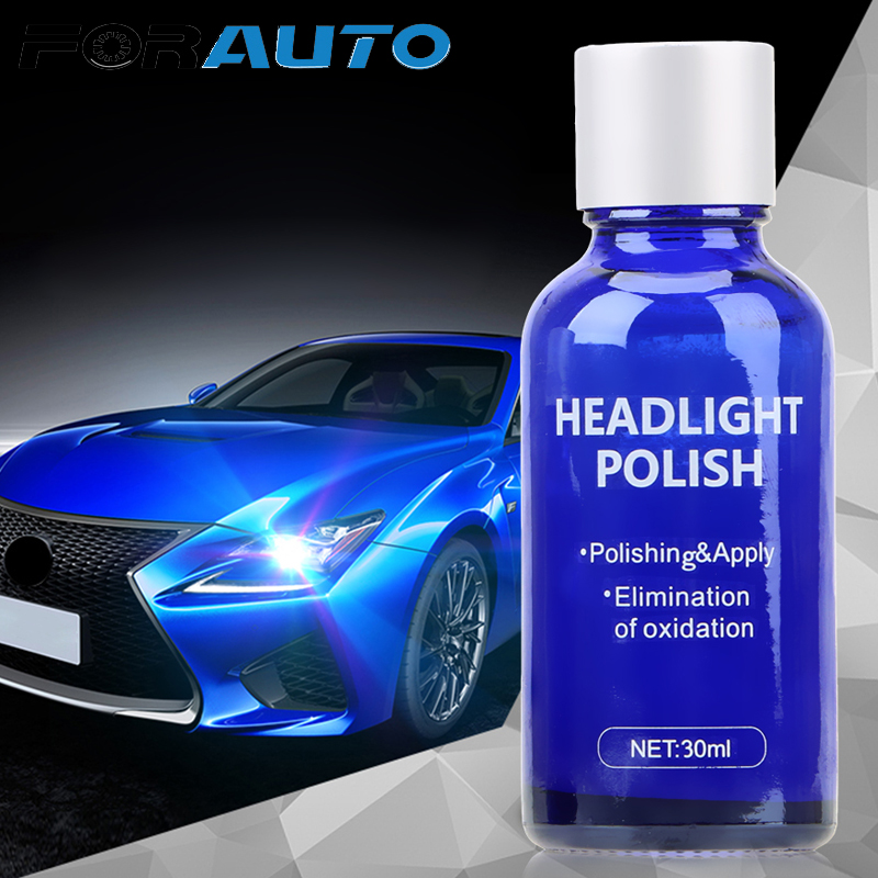 Car Headlight Polishing Repair Agent 10/30ML Liquid For Car Head Lamp Scratches Oxidation Restoration Kit Car Light Cleaning