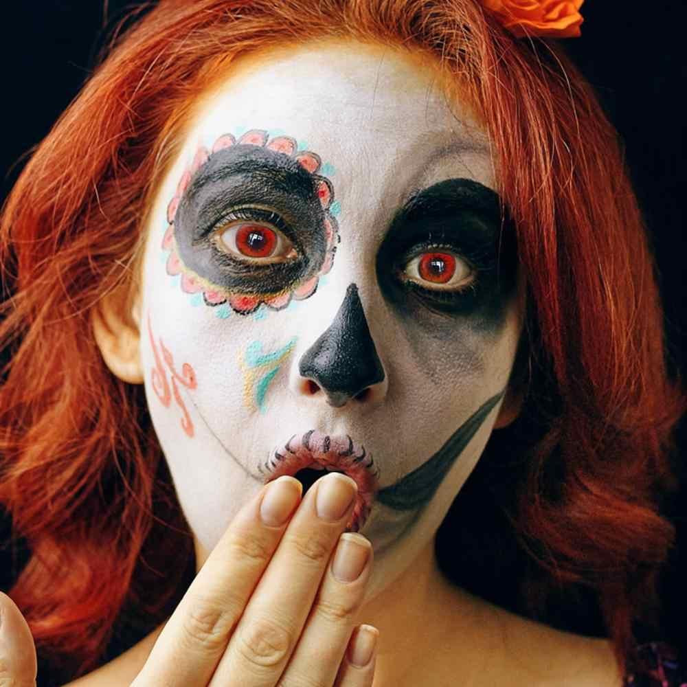 2 sztuk/para powiększalnik oczy kolorowe soczewki kontaktowe piękne uczeń kosmetyczne soczewki kontaktowe Halloween Cosplay makijaż soczewki dla oczu