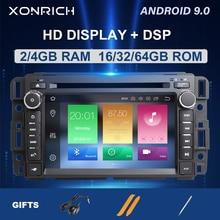4GB DSP 1Din Radio GPS Android 9,0 reproductor de DVD del coche para GMC Sierra Yukon Denali Acadia Savana Chevrolet Particular atravesar EquinoxCD