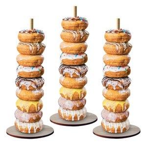 Image 2 - ドーナツ壁スタンド結婚式の装飾 diy ドーナツ表示ベースでベビーシャワーの誕生日パーティーケーキデザートスタンドテーブル装飾