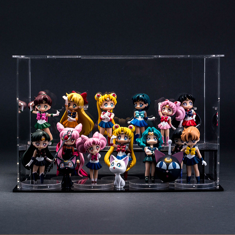 2019 New 16 Styles <font><b>Sexy</b></font> Girl Sailor Moon <font><b>Figures</b></font> Tsukino Usagi Sailor Mars Jupiter Saturn Mercury Venus <font><b>Anime</b></font> Pvc Model <font><b>Dolls</b></font> image