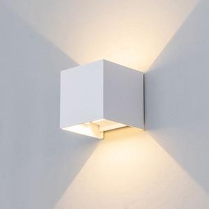 Image 3 - قابل للتعديل الجدار الخفيفة 6 واط LED داخلي في الهواء الطلق الألومنيوم الجدار الشمعدان سطح شنت مكعب الجدار الإضاءة خارج حديقة الجدار مصباح