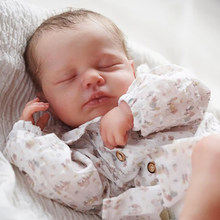 Rsg 20 polegada diy em branco reborn bebê boneca peças de dormir loulou unpainted inacabado boneca peças do bebê inacabado vinil kit