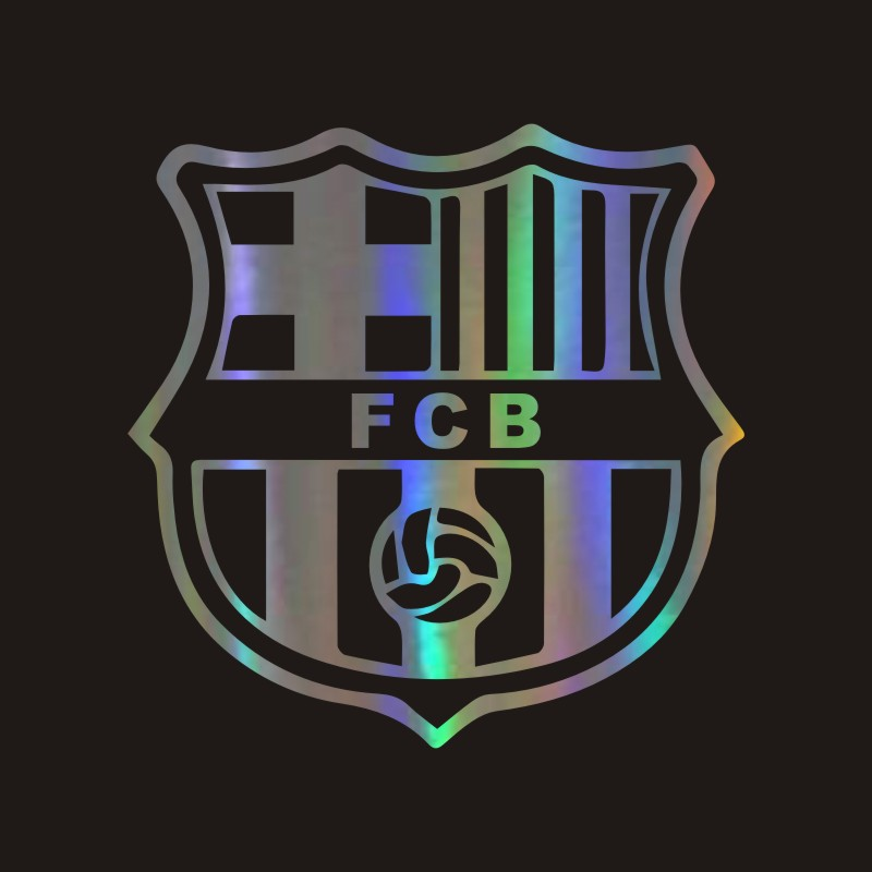 Waterproof Car Sticker Football Club Funny Car Decal Reflective Laser Vinyl Car Sticker 3D Car Styling