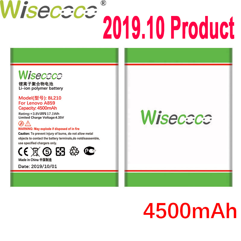 WISECOCO BL210 4150mAh Battery For Lenovo A536 A606 S820 S820E A750E A770E A656 A766 A658T S650 Mobile Phone+Tracking Number