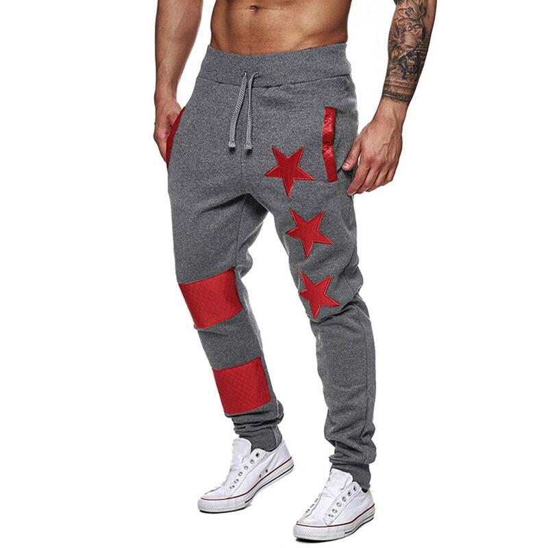 Men Print Sport Sweatpants Casual Striped Patchwork Joggers Trousers Fashion Hip Hop Streetwear Pants Male Gyms Pantalon Homme