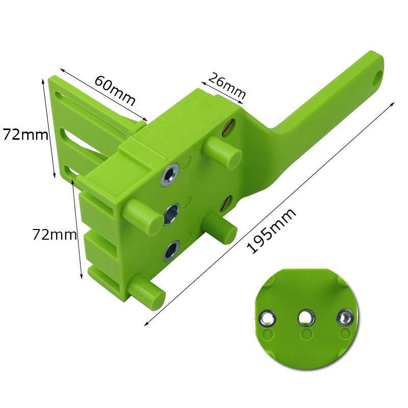 3 色木工穴ドリルパンチポジショナガイドロケータジグ建具システムキットアルミ合金木工 DIY ツール