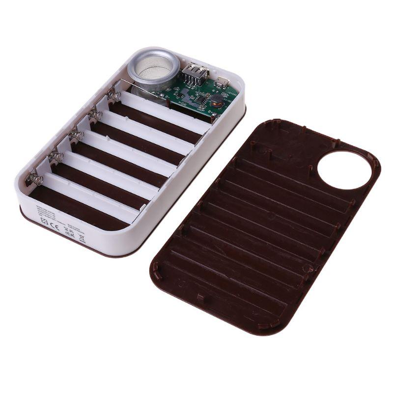 DIY USB Mobile Power Bank Charger Case Pack 5*18650 Battery Holder For Phone L4MD