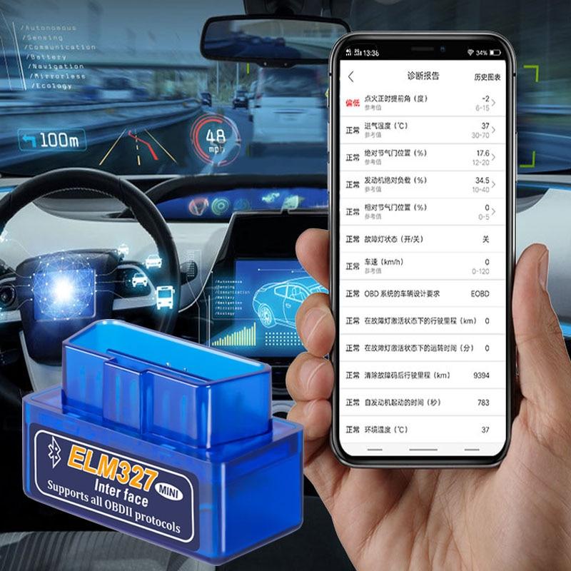 Автомобильный диагностический сканер Elm327 V1.5, Bluetooth, сканер OBD2 для Bmw E46 E39 Audi A3 A6 C5 A4 B6 Mercedes W203 W211 Mini Cooper