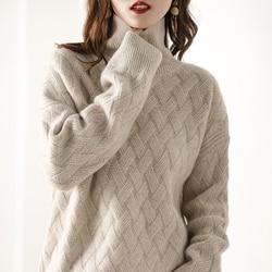 Super weiche wachsartige! Herbst winter neue matte gestrickte rollkragen weibliche pullover dicke kaschmir pullover pullover pullover lose pullover