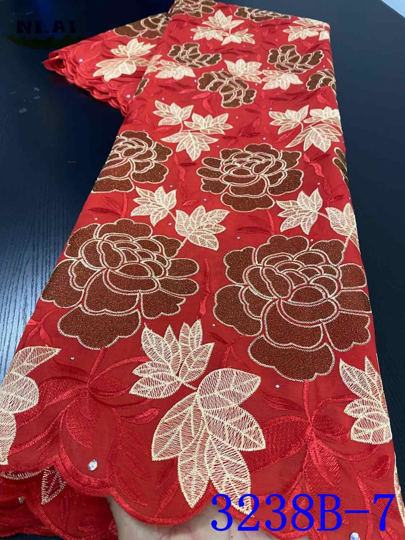 Niai Zwitserse Voile Kant In Zwitserland 2020 Hoge Kwaliteit Kant Afrikaanse Kant Stof Fashion Nigeriaanse Katoen Kant Materiaal XY3238B-5