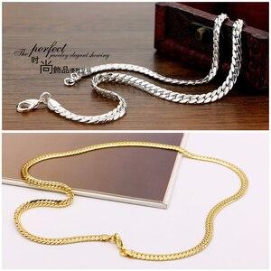 Image 5 - 100% solide 925 en argent sterling torsadé singapour chaîne 22 pouces 6mm pour femmes et hommes nouveau gros bricolage Long collier homme bijoux