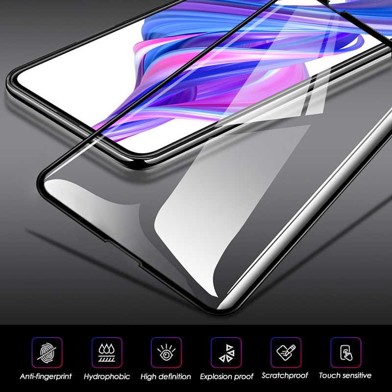 2-In-1 Kamera Kaca untuk Huawei Kehormatan 20 Lite V20 V10 V9 Pelindung Layar Kehormatan 9X 8X 9i 10i 20i 8A 8C Bermain Film Kaca Tempered