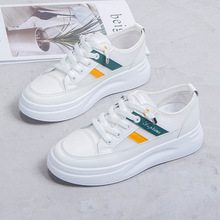 Spring Autumn Women Sneakers Little White Shoes Casual Loafers Woman Platform Shoes Fashion Low-cut Lace-up Skate Shoes Ladies spring autumn 2019 women shoes flats platform shoes woman fashion sneakers lace up low cut casual white shoes luxury designers