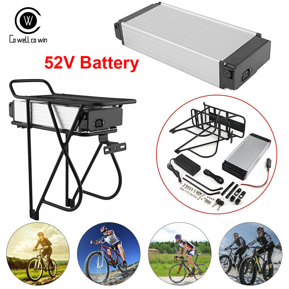 Ebike <font><b>Battery</b></font> <font><b>52V</b></font> Electric bike <font><b>battery</b></font> <font><b>52V</b></font> 15AH <font><b>Battery</b></font> <font><b>30AH</b></font> 1000W 30A BMS Powerful Rear Rack Bafang BBS02 BBSHD image