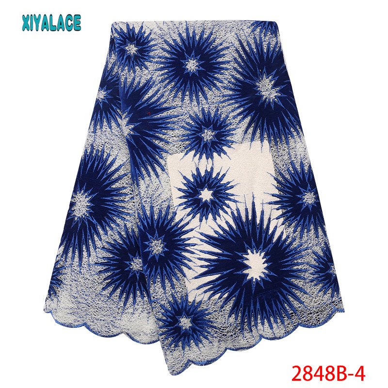 African Lace Fabric Nigerian Lace 2019 African Velvet Lace Fabric High Quality Tulle Net Lace Embroidery French YA2848B-4
