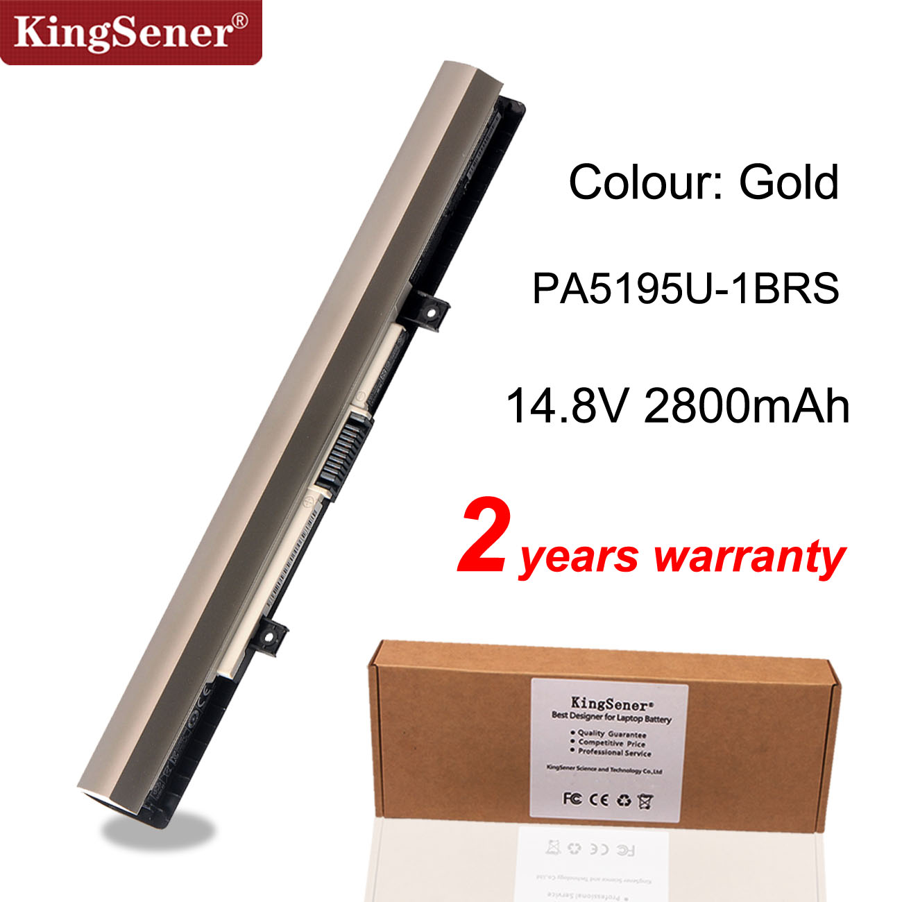 KingSener PA5195U-1BRS Laptop Battery  For Toshiba Satellite S50-B S50D-B S55T-B S55-B5280  PA5195U 14.8V 45WH/2800mAh