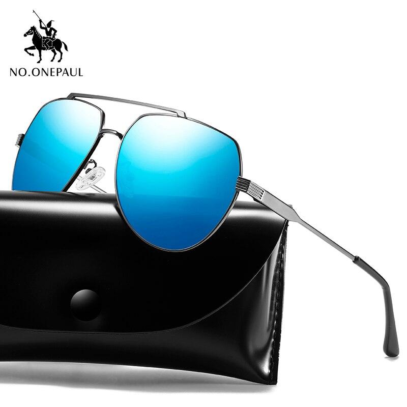 NO.ONEPAUL Square Frame Sun Glasses Male Goggle UV400 Gafas De Sol Glasses Square Classic Polarized Sunglasses Men Women Driving