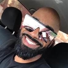 Grandes lunettes de soleil noires pour homme et femme, créateur de mode, miroir rose, ombres carrées, pour la conduite en été, UV400