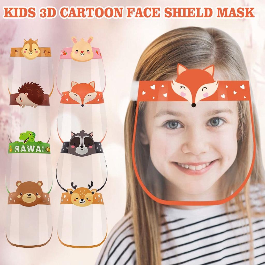 Уличная детская маска для лица с мультяшным питомцем, защитная маска против тумана, защитная маска, козырек для детей, школьные подарки для ...