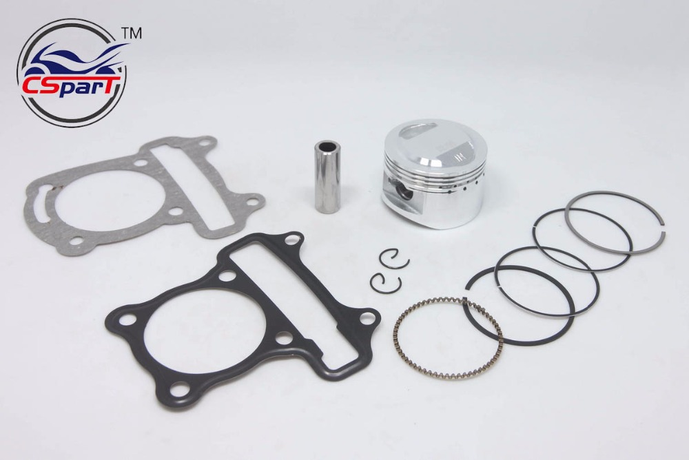 Performance <font><b>52mm</b></font> <font><b>Piston</b></font> <font><b>Rings</b></font> Gasket Kit GY6 50CC to 120CC Jonway Sunny Keeway Taotao Roketa JCL 139qmb Scooter Parts image
