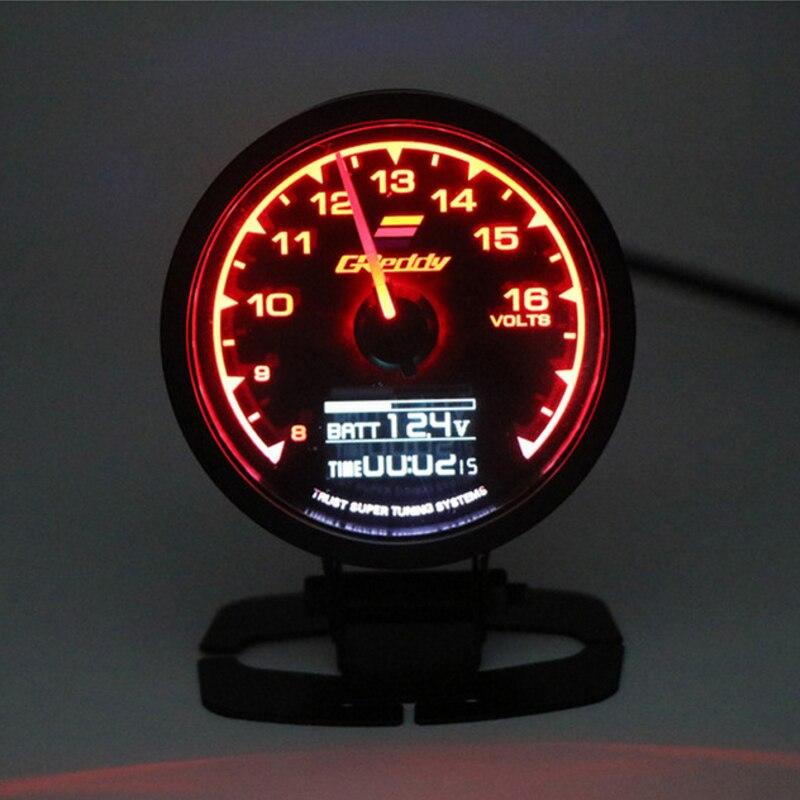 GReddi – écran numérique LCD à 7 couleurs pour voiture, Turbo Boost, température de l'eau, huile, pression RPM, tension, compteur de course, pression de carburant