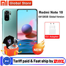 Em estoque versão global xiaomi redmi note 10 4gb 64gb/4gb 128gb smartphone snapdragon 678 33w amoled display 48mp quad câmera