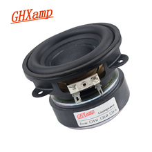 GHXAMP 3.5 inch Bass Woofer Speaker Subwoofer 88mm Super Tough Rubber Edge 4 ohm 50W Large Magnetic Steel Copper Voice Coil
