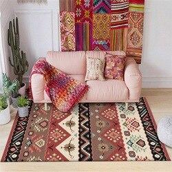 Czerwony brązowy Multicolor terytorium Indian geometryczne drukowane dywany dywany dla salon nocna podłoga w kuchni Pad|Dywany|   -