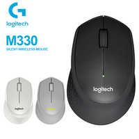 Logitech M330 Wireless Silent Mouse with 2.4GHz USB 1000DPI Optical Mouse Support PC/Laptop QUIET MARK CERTIFICATION