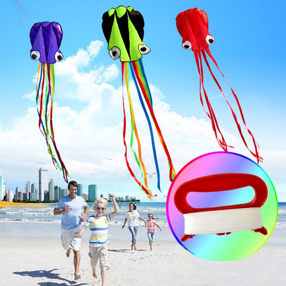 3D 4M Octopus Kite Single Line Stunt /Software Power Sport Flying Soft Kite Outdoor Easy To Fly Kids Fun Toys Gifts image