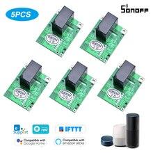 Sonoff RE5V1C 5V DC Dry Wifi Inching/Selflock Relay Module Switch Work Via EWelink APP Support Alexa Google Home IFTTT