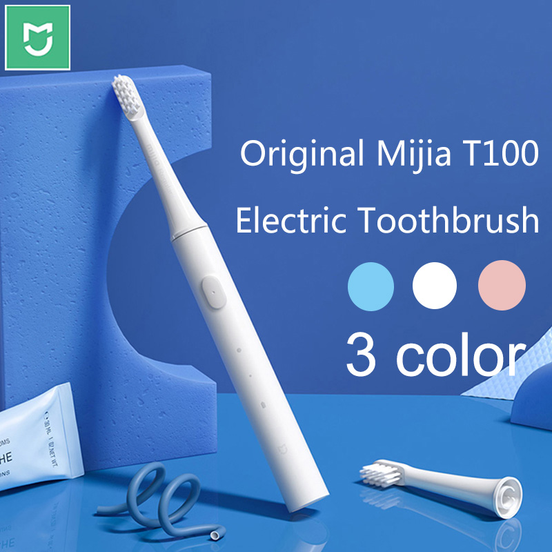 Xiaomi T100 Toothbrush Teeth Brush Heads Mijia T100 Electric Oral Deep Cleaning sonicare Toothbrush Two-speed Oral Cleaning image
