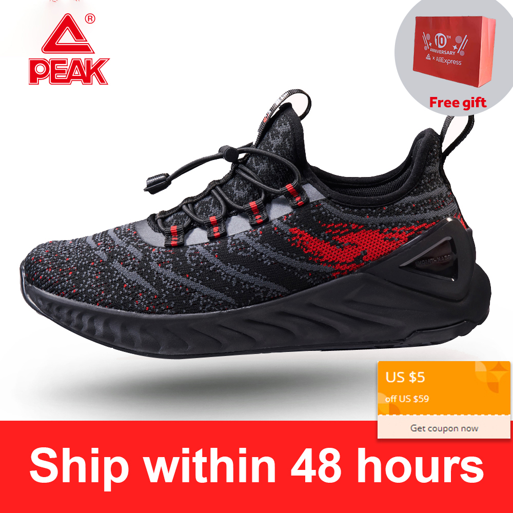 PEAK TAICHI Women's Running Shoes Breathable Lightweight Elastic Band Jogging Leisure Sports Shoes Super Small Size 35 36 37