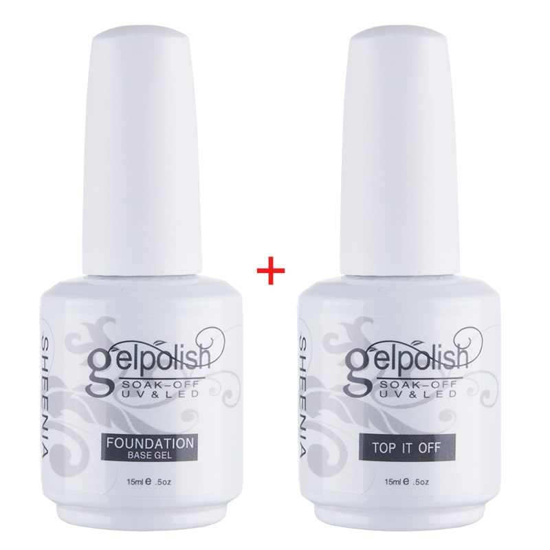 15 Ml Base/Top Coat Nail Gel Primer Matt Top Coat Uv Gel Nail Polishlong Tahan Rendam Off Pernis uv Gel Polandia Manikur Nail Art