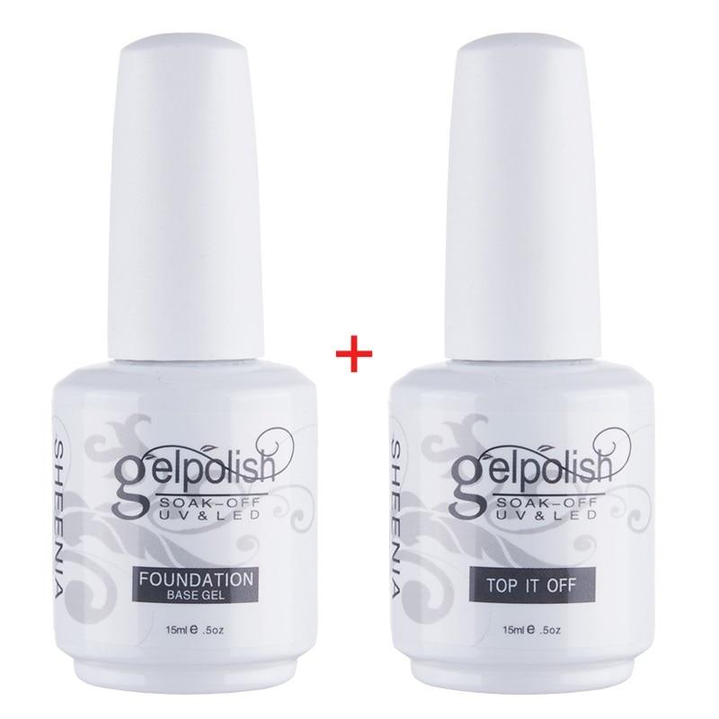 15ml Base/Top Coat Nail Gel Primer Matt Top Coat UV Gel Nail PolishLong Lasting Soak Off Varnish UV Gel Polish Manicure Nail Art